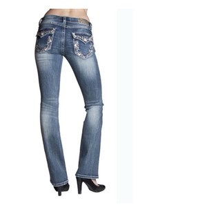 Grace in LA Boot Cut Pants Denim Blue