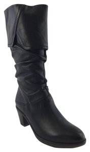 Ara Midcalf Cuffed Slouch Soft Black Boots