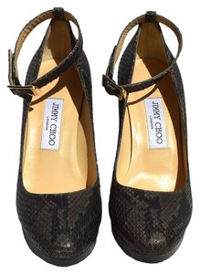 Jimmy Choo gray, black Wedges