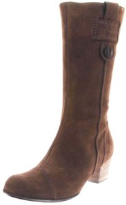 Ara Midcalf Leather Taupe Casual Western Brown Boots