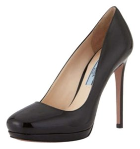 Prada Pump Safiano Platform Chanel Black Pumps