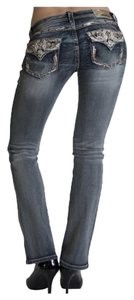 Grace in LA Boot Cut Jeans-Medium Wash