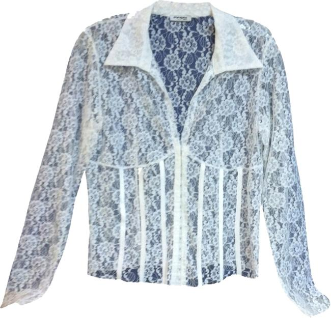 Sharagano Top White Lace