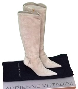 Adrienne Vittadini Palomino Suede (Beige) Boots