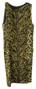 Versace short dress Leopard Print Vintage Fur on Tradesy
