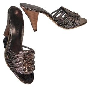 Rampage Metallic with shade in Pewter Snake Sandals