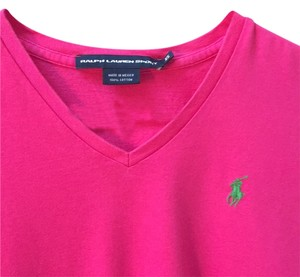 Ralph Lauren Rl V-neck Cotton T-shirt E 0 2 4 Logo Polo T Shirt