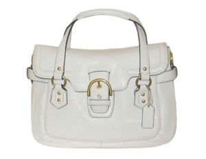 Coach F27231 Leather Satchel in white