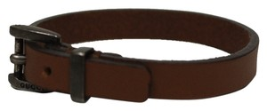 Gucci Gucci Unisex Leather Buckle Bracelet, Brown