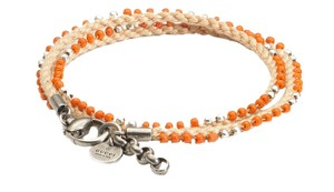 Gucci Gucci Double Wrap Beaded Bracelet 316008, Orange