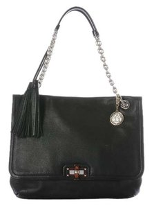 Lanvin Black Happy Tortoiseshell Shoulder Bag
