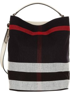 Burberry Nova Check Red Susanna Bucket Hobo Leather New Tags Rare Plaid  White Clutch Medium Tote d79a79e1ae141
