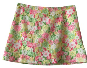 Lilly Pulitzer Lace Skirt Pink, Yellow, and Green