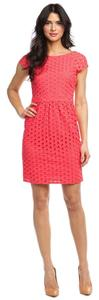 Laundry by Shelli Segal short dress Coral Eyelet Lace Work Weekend Bridal Wedding on Tradesy