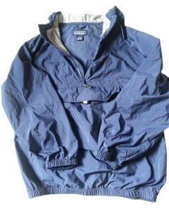 Lands' End Water-repellant Classic Like-new blue Jacket