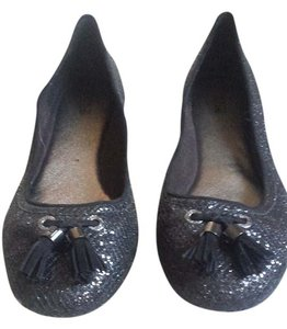 Sperry Preppy Glitter Ballet Flat Black Flats