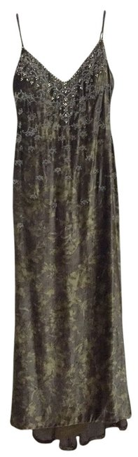 Item - Green Vintage Hand Beaded Gown Long Formal Dress Size 8 (M)