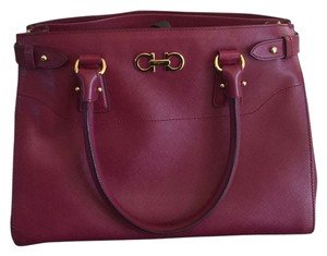 Salvatore Ferragamo Totoe Tote in Burgundy
