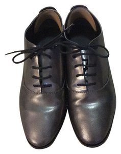 Alexander Wang Leather Oxford Lace-up Like New silver Flats