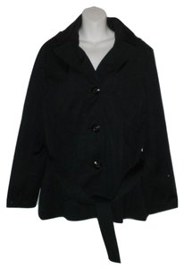 Ellen Tracy Trench Hooded Trench Coat