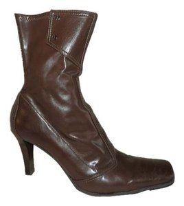 Nine West Faux Leather Pull On Brown Boots