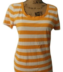 Merona T Shirt ORANGE/WHITE