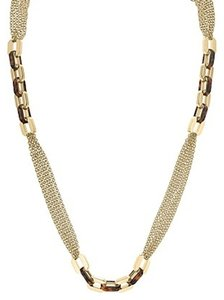 Michael Kors Michael Kors Long Multi Chain with Tortoise Print Status Link Necklace, 36