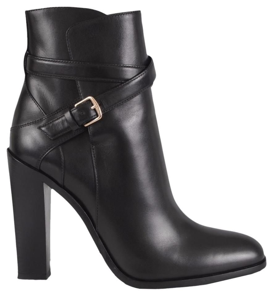 4fec5f45 Saint Laurent Black New Ysl Women's 359223 Leather Buckle 38 Boots/Booties  Size US 8 Regular (M, B)
