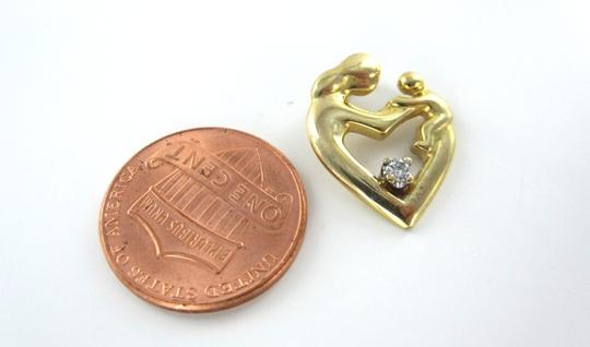 Other 14KT KARAT YELLOW GOLD PENDANT 1 DIAMOND MOTHERS DAY GIFT CHILD CHARM 2.0 GRAMS