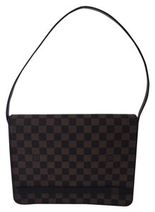 Louis Vuitton Tribeca Leather Coated Canvas Shoulder Bag