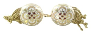 Other 14KT YELLOW GOLD EARRINGS BUTTON DANGLE RUBIES RUBY DANGLE 12.7 GRAMS NO SCRAP