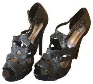 Shiekh Black, glitter Platforms