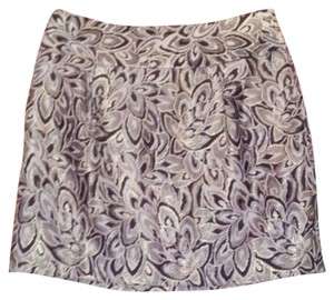 Ann Taylor LOFT Womens Mini Skirt Brown & Beige