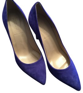 J.Crew Highheels Heels Pointy Suede Blue Pumps