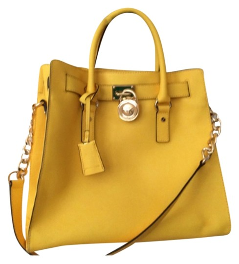 Preload https://item3.tradesy.com/images/michael-kors-hamilton-large-saffiano-yellow-leather-tote-9025837-0-2.jpg?width=440&height=440
