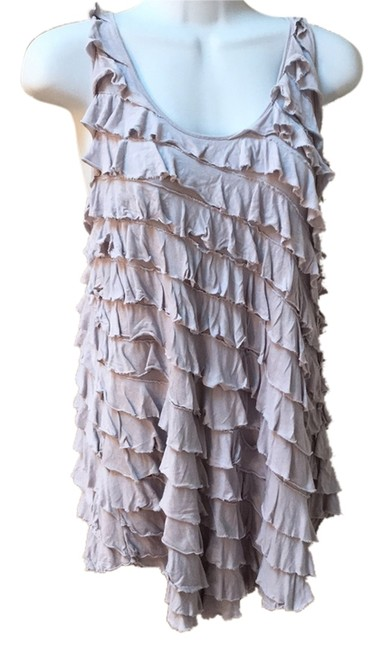 Preload https://item1.tradesy.com/images/anthropologie-kimchi-blue-gray-ruffle-fun-dress-l-10-tank-topcami-size-8-m-9025870-0-2.jpg?width=400&height=650