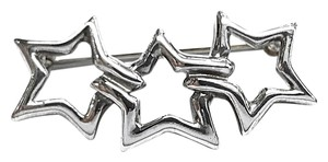 Tiffany & Co. Tiffany & Co Sterling Silver Triple Three 3 Stars Brooch Pin