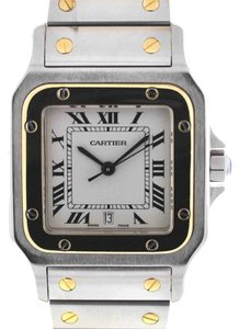 Cartier Cartier Santos Two Tone Stainless Steel & 18k Yellow Gold Men's Watch 1566