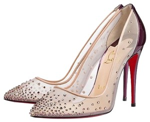 Christian Louboutin Stiletto Purple & embelish mesh Pumps