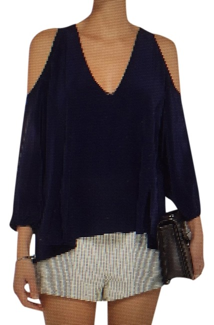 Preload https://item1.tradesy.com/images/blue-r-blouse-size-12-l-9026215-0-2.jpg?width=400&height=650