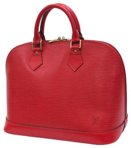 Louis Vuitton Epi Alma Pm Satchel in Red
