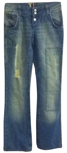 JLo Straight Leg Jeans-Distressed