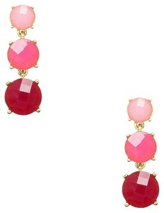 Kate Spade NEW Kate Spade New York Smell The Roses Linear Pink Earrings 12k Gold