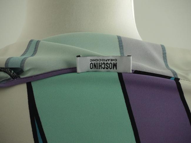 Moschino short dress Mint, Teal, White, Black, Purple Print V-neck Spring Summer on Tradesy