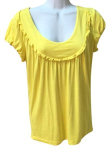 Michael Kors Mk Yellow Sweater Shirt Cotton Small 2 4 6 T Shirt