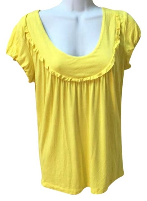 Preload https://img-static.tradesy.com/item/9026542/michael-kors-yellow-soft-sleeve-t-shirt-small-tee-shirt-size-6-s-0-2-650-650.jpg