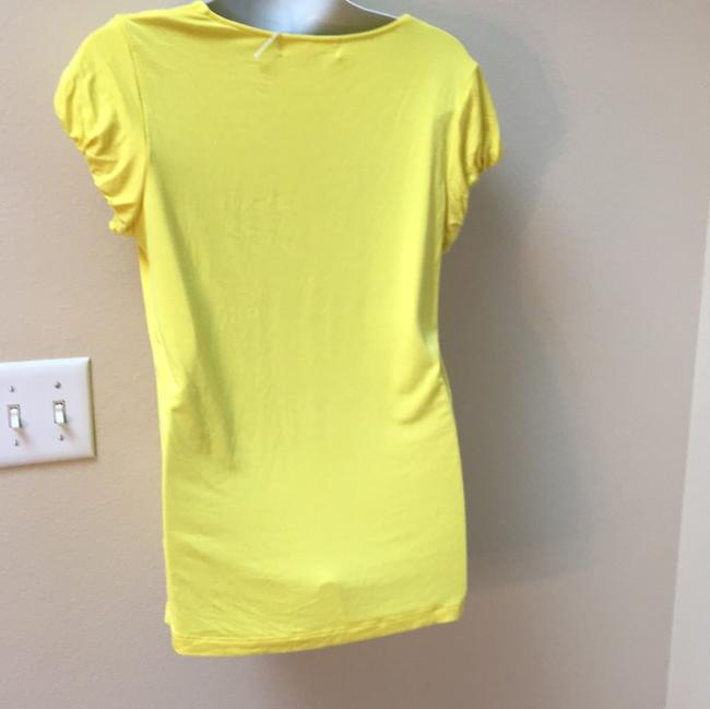 Michael Kors Mk Yellow Sweater Cotton Small 2 4 6 T-shirt T Shirt