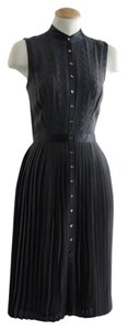 Catherine Malandrino short dress Slate Eyelet Embroidered Pleated on Tradesy