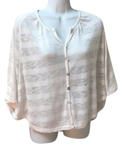Liberty Love Cape Bat Sleeves Poncho Shirt Medium Cotton Sweater