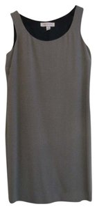 Anne Klein Classic Tailored Patterned Black Tan Dress